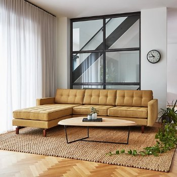 Shown in Stockholm Camel with Walnut Legs finish, in use