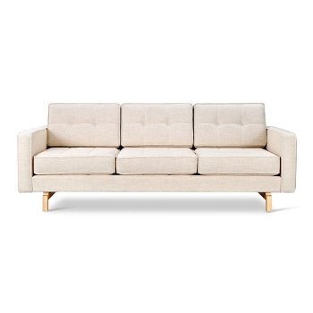 Shown in Huron Ivory with Ash Natural legs finish