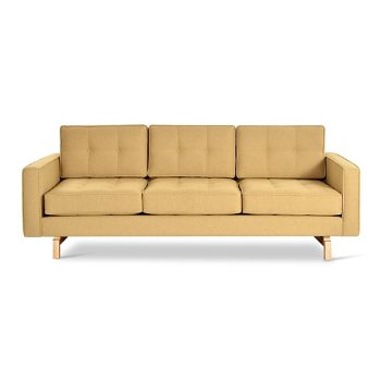 Shown in Stockholm Camel with Ash Natural legs finish