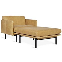 Foundry 2 Piece Leather Chaise