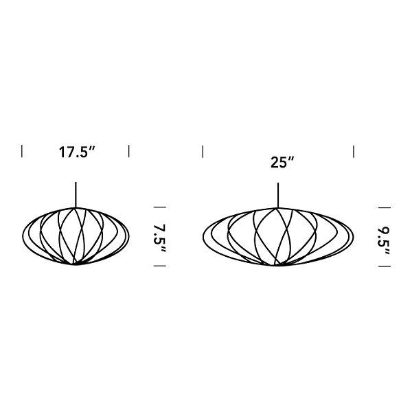 Saucer Criss Cross Bubble Pendant