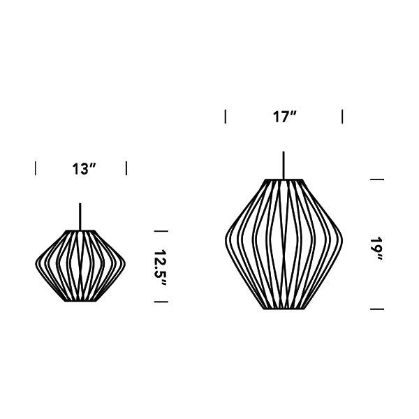 Pear Bubble Pendant