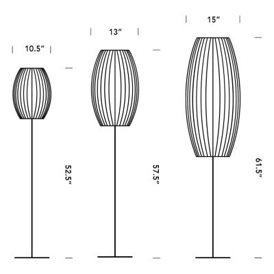 Lotus bubble floor lamp cigar by nelson bubble lamps at lumens print this tab aloadofball Image collections