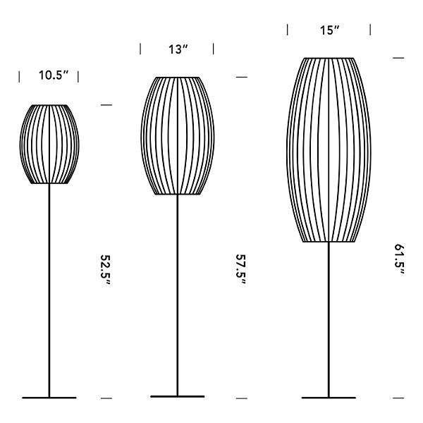 Lotus Bubble Floor Lamp - Cigar