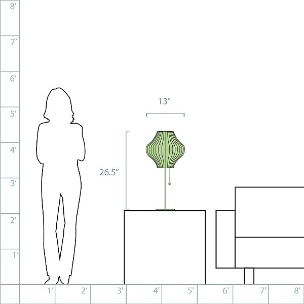 Lotus Bubble Table Lamp - Pear