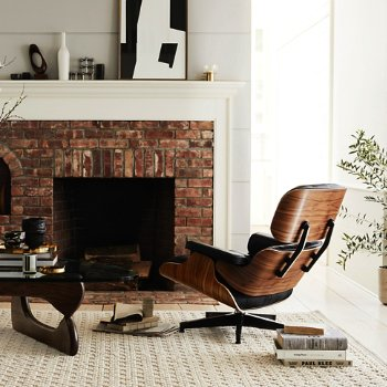 Eames Lounge Chair with Ottoman with Noguchi Table and Lispenard Sofa