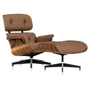 Shown in 2100 Leather Copper fabric with Santos Palisander frame finish