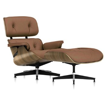 Shown in 2100 Leather Copper fabric with New Oiled Walnut frame finish