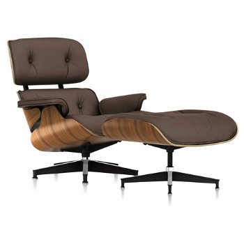 Shown in 2100 Leather Tobacco fabric with New Oiled Santos Palisander frame finish