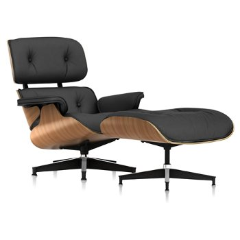 Shown in Open Line Leather Cocoa fabric with Walnut frame finish