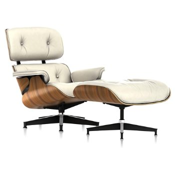Shown in 2100 Leather Ivory fabric with New Oiled Santos Palisander frame finish
