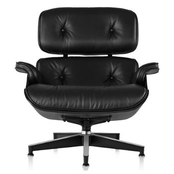 Eames Lounge Chair - Ebony, front veiw