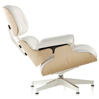 eames lounge chair white ash by herman miller at lumens com
