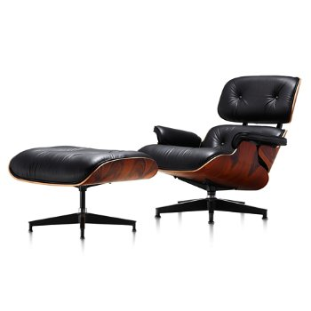 Shown in MCL Leather Black fabric with New Oiled Santos Palisander finish