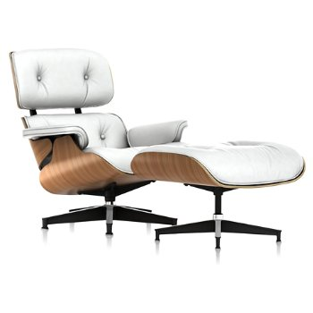 Shown in MCL Leather Pearl, Walnut finish