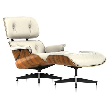 Shown in MCL Leather Ivory, Santos Palisander finish
