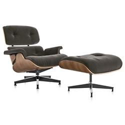 Eames Lounge Chair and Ottoman in Mohair Supreme