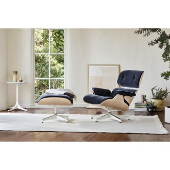 Eames Lounge Chair with Ottoman with Nelson End Table