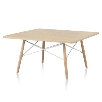 Shown in White Ash top with White Ash leg finish, White frame, 30-in x 30-in