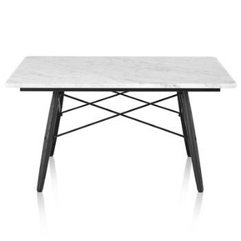 Shown in Carrara Marble top with Ebony leg finish, Black frame, 30-in x 30-in