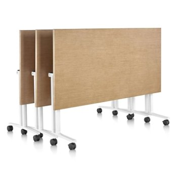 Shown in Natural Maple color, Natural Maple edge finish, with White leg finish