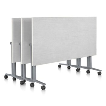 Shown in White finish, Clear on Ash edge finish, with Metallic Silver leg finish