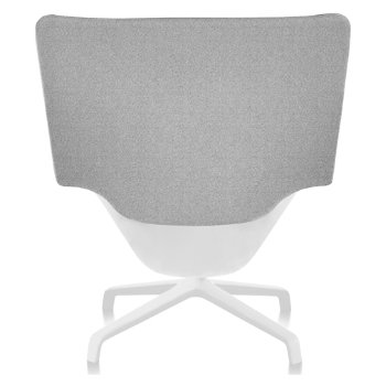 Shown in Heathered Grey fabric with White back finish and White base finish