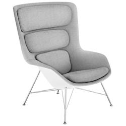 Striad High Back Lounge Chair with Wire Base
