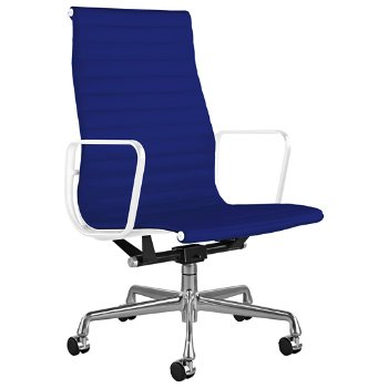 Shown in Messenger Ultramarine with Polished Aluminum Base/ White Frame, 2-In. Hard Double Wheel Caster, Chrome