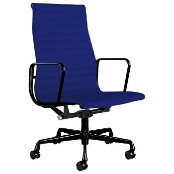 Shown in Messenger Ultramarine with Graphite Satin Base/ Graphite Satin Frame, 2-In. Hard Double Wheel Caster, Black Painted