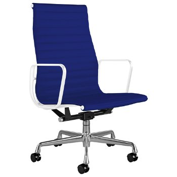 Shown in Messenger Ultramarine with Polished Aluminum Base/ White Frame, 2-In. Hard Double Wheel Caster, Black Painted