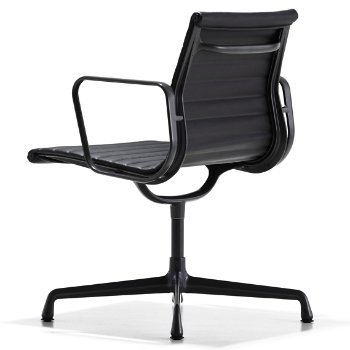 Shown in 2100 Leather Black with Arms