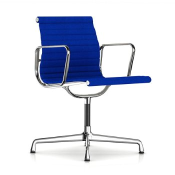Shown in Ultramarine fabric with Polished Aluminum Base finish with Arms
