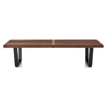 Shown in Walnut finish with Ebonized Wood base finish, Medium / 60-In. Wide