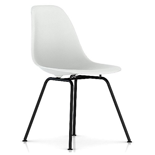 Eames Molded Plastic Side Chair 4 Leg Base By Herman Miller At