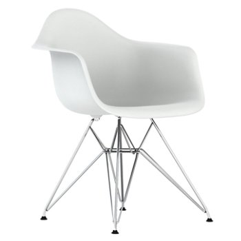 Eames Molded Plastic Armchair - Wire Base