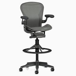 Aeron Stool - Counter Height, Carbon