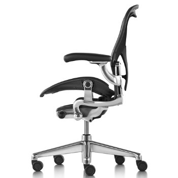 Shown in Graphite/Polished Aluminum finish with Adjustable Posture Fit SL