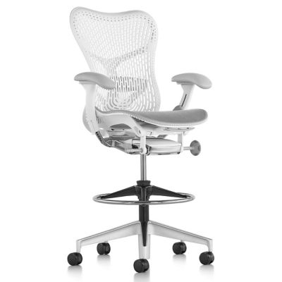 Mirra 2 Office Stool Triflex Back With Adjustable Arms Lumbar Support By  Herman Miller At Lumens.com