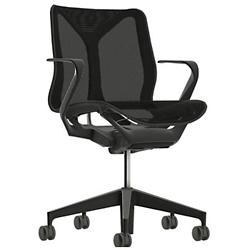 Cosm Low Back Chair with Fixed Arms