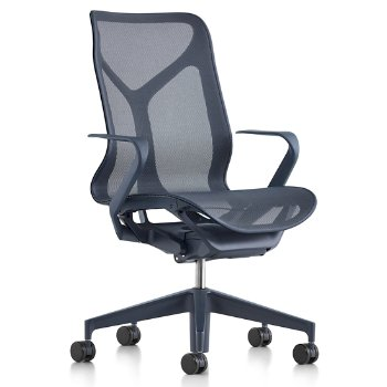 Cosm Mid Back Chair with Fixed Arms