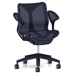 Cosm Low Back Chair with Leaf Arms