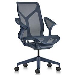 Cosm Mid Back Chair with Leaf Arms