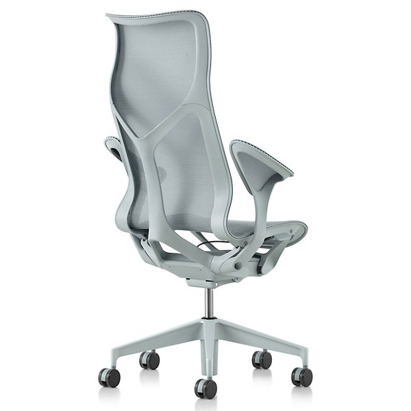 Cosm High Back Chair with Leaf Arms