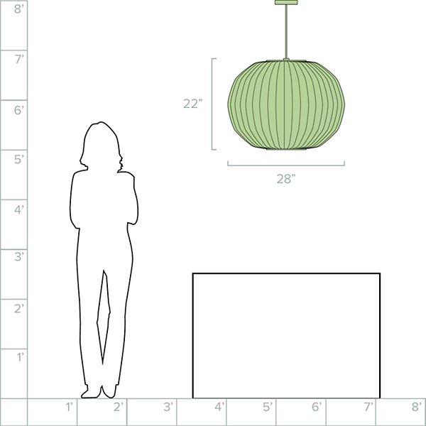 Angled Sphere Bubble Pendant