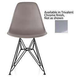 Eames Molded Plastic Side Chairs (Sparrow/Chrome) - OPEN BOX