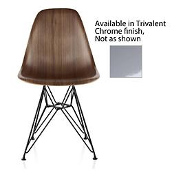 Eames Molded Wood Side Chair w/ Wire Base(Chrome) - OPEN BOX