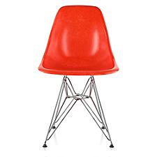 Eames Molded Fiberglass Side Chair with Wire Base  -  Authorized Retailer