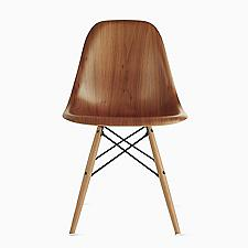 Eames Molded Wood Side Chair with Dowel-Leg Base