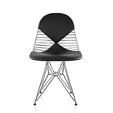 Eames Wire Chair with Leather Seat/Back  -  Authorized Retailer